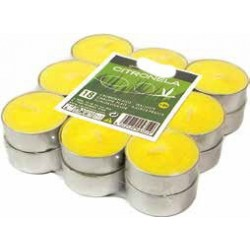 Pack 18 calientaplatos (Tealights) citronela